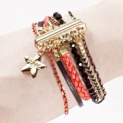 Bracelet aimanté corail & or
