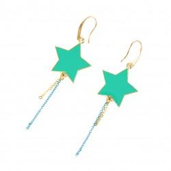 B.O. étoiles turquoise et or