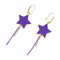 B.O. étoiles violet et or