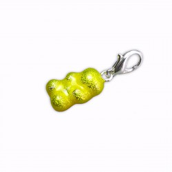 Charm bonbon nounours jaune