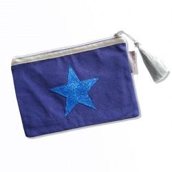 Pochette bleu électrique, étoile bleue