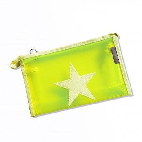 Pochette plastique jaune fluo