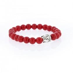 Bracelet Lucky  Homme Jade  rouge et buddha