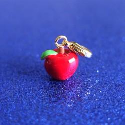 Charm pomme rouge doré