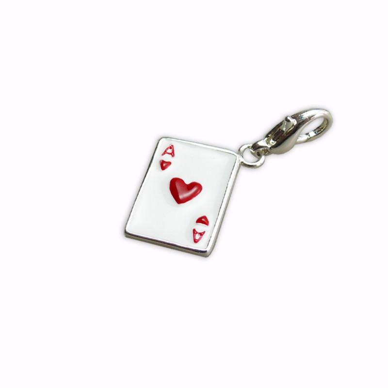 Charm carte as de cœur