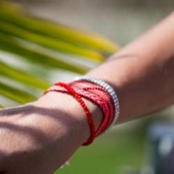 Coral magnetic cuff bracelet