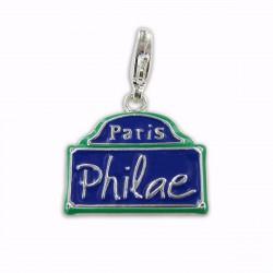 Charm plaque de rue Philae