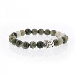 Bracelet Lucky Homme agate mousse et buddha
