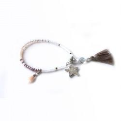 Bracelet lucky nude & argent