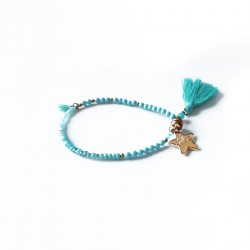 Bracelet lucky turquoise & or