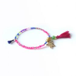 Bracelet lucky fushia & or