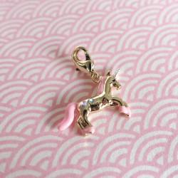 Gold unicorn charm