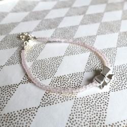 Bracelet cristal rose pâle,...