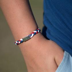 Bracelet tressé bleu,...
