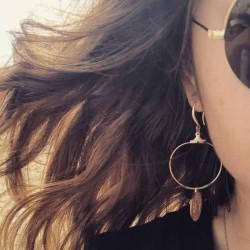 Boucles d'oreille pièces d'or