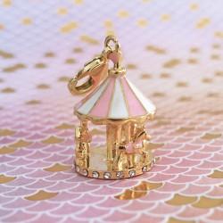 Charm carrousel doré