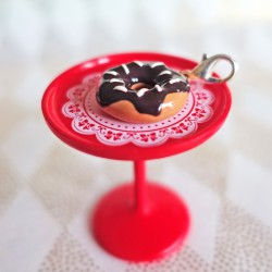 Chocolate donut charm