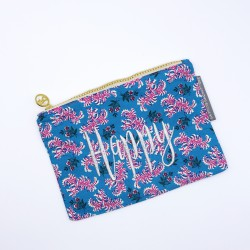 """Happy"" light blue floral..."