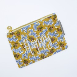 """""""Happy"""" yellow floral print..."""