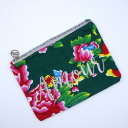 """Asia printed """"Love"""" pouch"""