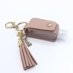 Powdered pink and gold key...
