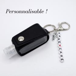 Porte clé noir et argent