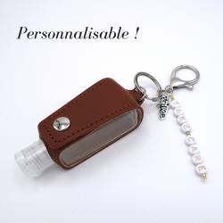 Brown key ring