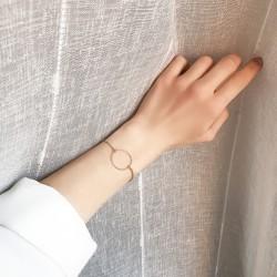 Bracelet avec anneau doré