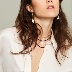 Virgin crystal choker necklace