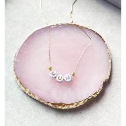 Customizable message necklace