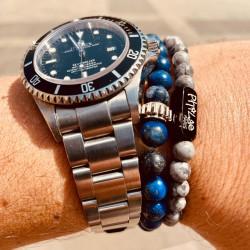 Lucky bracelet man Lapis...