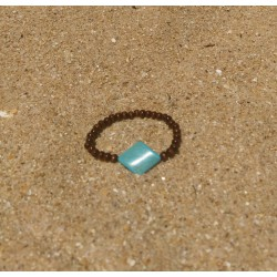 Wood and turquoise...